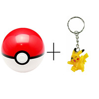 Pokemon PokeBall, Pikachu Figure Keychain