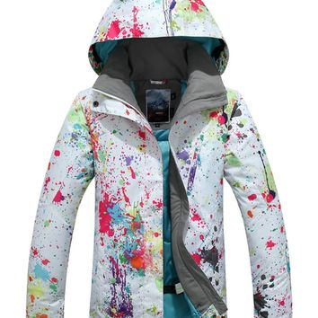 APTRO Women's High Windproof Technology Colorfull Printed Ski Jacket Style #896 Size S