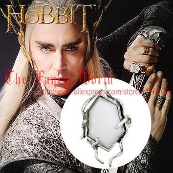 Hobbit Thranduil Crystal Ring Mirkwood elf king white spider ring Legolas father lord of rings The Desolation of Smaug