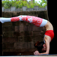 Papercut Printed Yoga Pants
