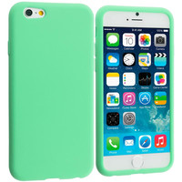 Mint Green Silicone Soft Skin Rubber Case Cover for Apple iPhone 6 Plus 6S Plus (5.5)