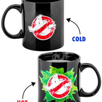 Ghostbusters Heat Change Mug: Officially licensed oversized ceramic cup.