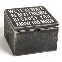 Primitives by Kathy 'Best Friends' Box Sign