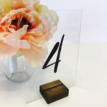 Table Number Holders, SMALL Rustic Table Number Holder Holder (Set of 15)