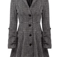 Cozy Heather Woolen Coat - OASAP.com