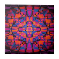 Kaleidoscope star pattern tile