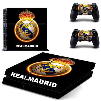 Real Madrid C.F Design skin for ps4 decal sticker console & controllers