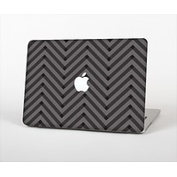 The Gray & Black Sketch Chevron Skin Set for the Apple MacBook Air 13""