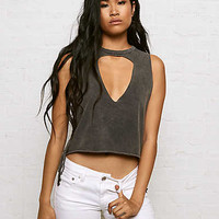 Don't Ask Why Cutout Tank , Black