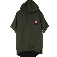 S/S Fray Army Hoodie