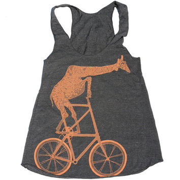 Fixed Gear Mutant Bicycle Riding Giraffe Tank by darkcycleclothing