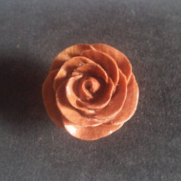 Stud earrings, rose, wooden rose stud earrings, organic body jewelry, handmade earrings jewelry, handcarved jewelry