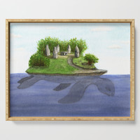 Turtle island Serving Tray by savousepate