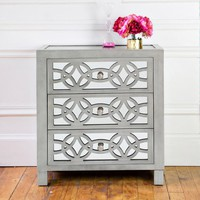 """28"""" H Glam Slam 3 Drawer Mirror Chest 
