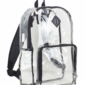 Eastsport Multi-Purpose Clear Backpack with Front Pocket