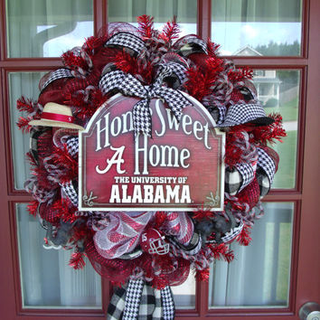 Alabama Crimson Tide College Deco Mesh Door Wreath