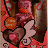 Barbie I Love Valentines African American Doll & Silicone Rubber Band Bracelets