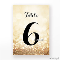 "4x6"" - Printable gold table numbers 1-40, wedding table numbers, black & gold wedding, gold wedding table numbers, decor diy -wed009 Olivia"