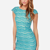 Darling Marissa Turquoise Lace Dress