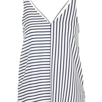 Stripe Double Strap V-Front Cami - Topshop