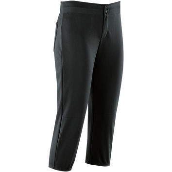 High Five 15133 Unbelted Softball Pant  Girl's  - Black