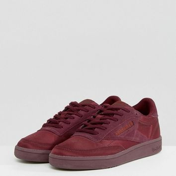 Reebok Classic Club C 85 Soft Trainers In Red at asos.com