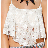 Papaya Clothing Online :: FLORAL LACY CAMI TOP