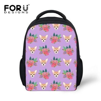 Boys bookbag trendy 2018 New Trendy Chihuahua Kids School Bags for Boys and Girls Gift Print FOR Cute Princess Child Baby Small  Shoulder Bag AT_51_3