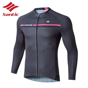 Santic Men Cycling Jersey 2018 Outdoor Sports Bike Clothing For Men Shirts Road Bicycle Jersey Long Sleeve Camisa Ciclismo