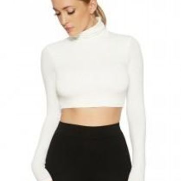 The NW Turtleneck Crop - Tops - Womens