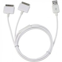 Dual iPhone / iPod Splitter Cable. Charge up to Two Apple Devices At Once From a Single USB Port:Amazon:Cell Phones & Accessories