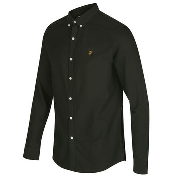 Farah Brewer Long Sleeve Shirt - Green