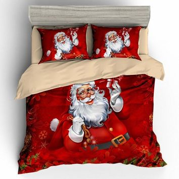 Christmas 3d bedding sets comforter duvet cover set  bedsheet Pillowcase queen king size  Bedlinen  3pcs