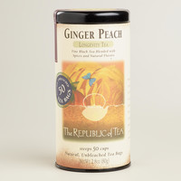 The Republic of Tea Ginger Peach Black Tea, 50-Count - World Market