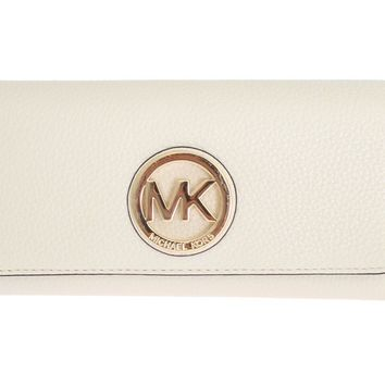 Michael Kors White FULTON Continental Wallet