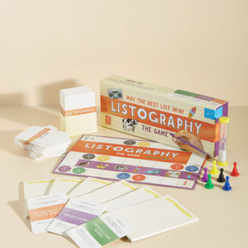 Listography: The Game | Mod Retro Vintage Toys | ModCloth.com