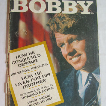 Robert F Kennedy Bobby Kennedy The Man & His Dreams Jacki Kennedy 1968