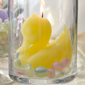 Yellow Duck Candle baby shower centerpieces wedding receptions and decor