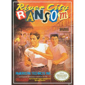 Retro River City Ransom Game Poster//NES Game Poster//Video Game Poster//Vintage Game Reprint