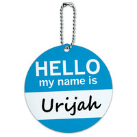Urijah Hello My Name Is Round ID Card Luggage Tag
