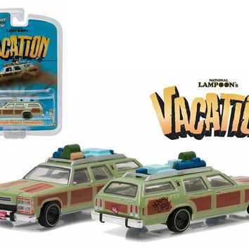 "1979 Family Truckster ""Wagon Queen"" Honky Lips Version ""National Lampoon's Vacation"" Movie (1983) 1-64 Diecast Model Car by Greenlight"