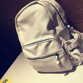Soft Leather Backpack Vintage Style