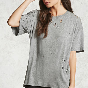 Distressed Oversized Tee