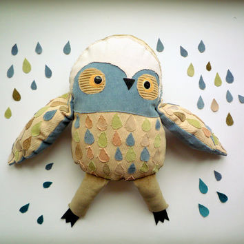 July Sale  It  Was 70 USD now is 55 USD .Marcus Big  Owl, soft toy by  Wassupbrothers.