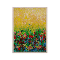 "Ebi Emporium ""My Paintings"" Yellow Multicolor KESS Naturals Canvas (Frame not Included)"
