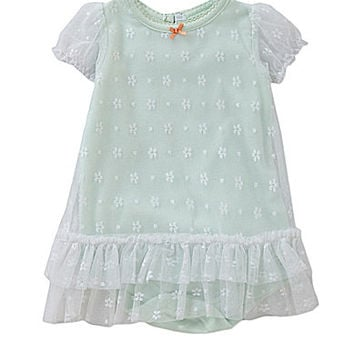 Baby Starters Newborn-9 Months Sheer Tulle Dress & Attached Bodysuit