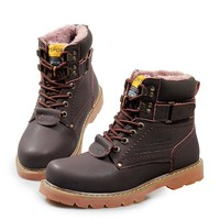 On Sale Hot Deal Ladies Winter Leather High-top Boots [118136406041]