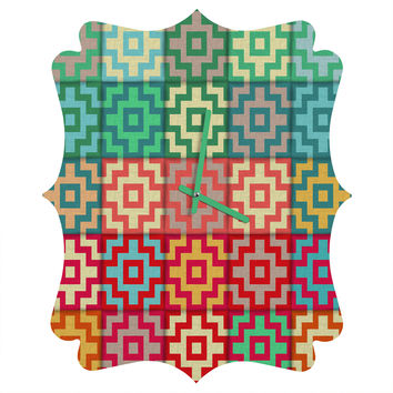 Sharon Turner Marrakech Quatrefoil Clock