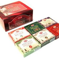 Precious Series Assortment of Six Scents - Total of 12 Boxes, 10 Cones Each - HEM Incense From India