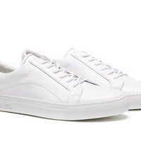 Leather Sneaker - White